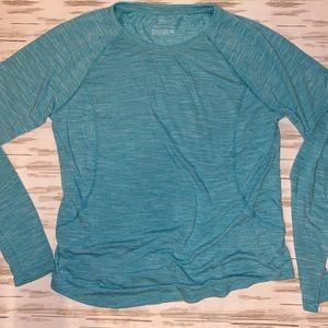 TEK GEAR Dry Tek Long Sleeve Small T Shirt Green